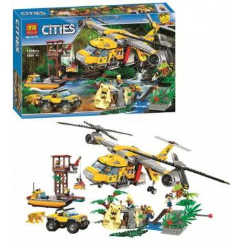 Вертолёт для доставки грузов в Джунгли 10713 Bela (аналог лего 60162)