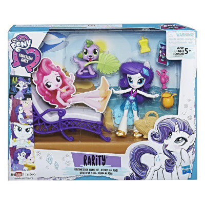Игровой набор My Little Pony Rarity Relaxing Beach Lounge Set, b4910 Hasbro