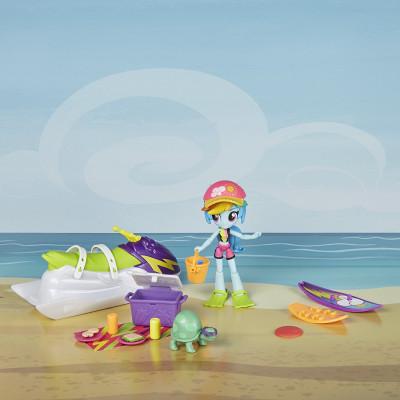 Игровой набор My Little Pony Equestria Girls Rainbow Dash Sporty Beach Set, b8824 Hasbro