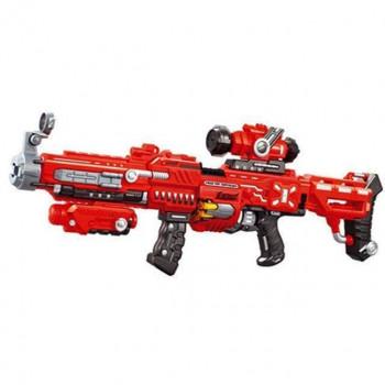 Детский автомат бластер с мягкими снарядами (подсветка и звук), FJ552