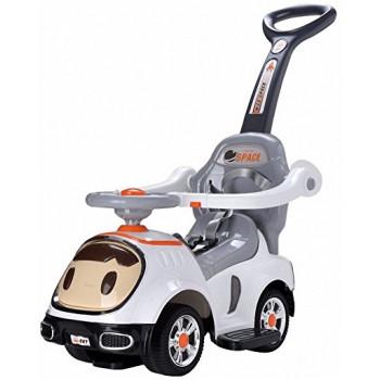 """Детская машинка-каталка """"Малыш"""" 3 в 1, 302 (цвет белый)"""