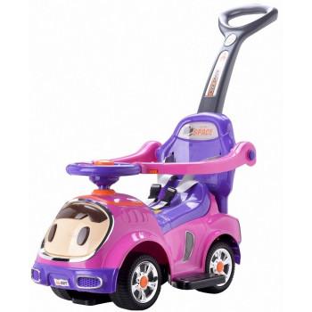 """Детская машинка-каталка """"Малыш"""" 3 в 1, 302 (цвет розовый)"""