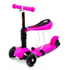Самокат-беговел Scooter с сиденьем 3 в 1 (фиолетовый)