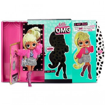 Кукла Lol Surprise OMG Lady Diva 20 см, MGA Entertainment