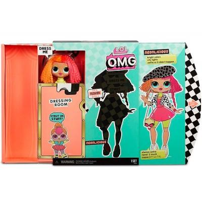 Кукла L.O.L. Surprise OMG Neonlicious 20 см + 20 сюрпризов, MGA Entertainment