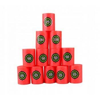 12 целей из мягкой пены для бластеров NERF