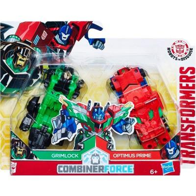 Трансформеры Гримлок и Оптимус Прайм Combiner Force, c0628-e1111 Hasbro