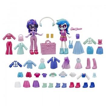 Набор игровой MLP Equestria Girls  Модницы Мини-кукла Твайлайт и Dj Pon-3 е9254-е9243 Hasbro
