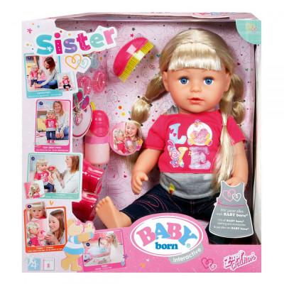 Старшая Сестренка с аксессуарами 43 см, 820704 Zapf Baby Born