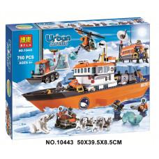 Ледокол и полярная станция с транспортом (аналог лего 60062), 10443 Bela