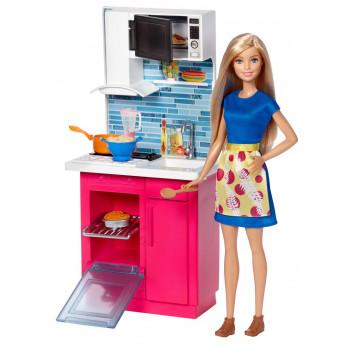 Кукла Барби Мебель для кухни и аксессуары, DVX51-DVX54 Barbie Mattel