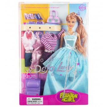 "Кукла ""Модница"" с нарядами и аксессуарами, 8012 Defa"