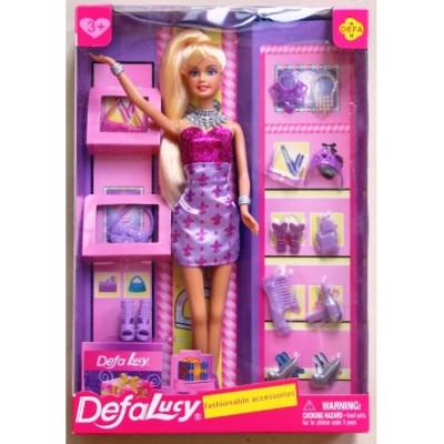 Кукла с обувью и аксессуарами, 8233 Defa