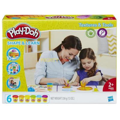 Набор пластилина Цвета и формы серии Моделируй и изучай, B3408 Play-Doh Hasbro