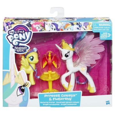 My Little Pony B9160-B9849 Принцессы Селестия и Флаттершай Hasbro