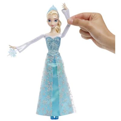 """Кукла Эльза """"Холодное сердце"""" с 3 снежинками и Зефиркой (свет), CGH15 Mattel"""
