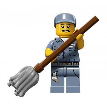 Уборщик, 71011 минифигурка 15-я серия Lego