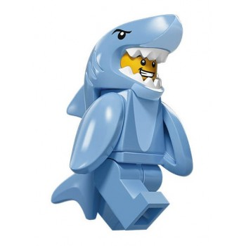 Парень в костюме акулы, 71011 минифигурка 15-я серия Lego