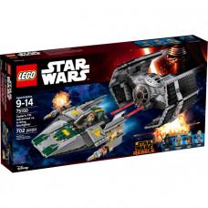 Усовершенствованный истребитель TIE Дарта Вейдера против Звёздного истребителя A-Wing, 75150 Lego Star Wars