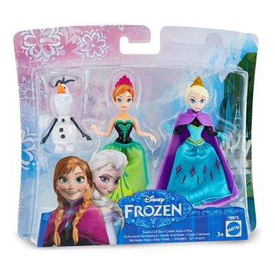 """Набор мини-кукол """"Холодное сердце"""" - Сестры Анна и Эльза со снеговиком, Y9975 Mattel"""